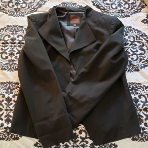 The Limited Black Open-Front Waterfall Blazer